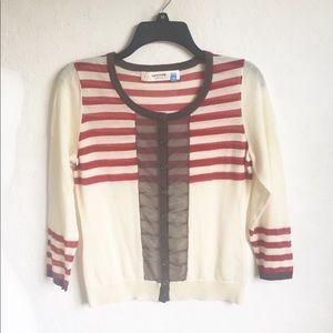 Anthropologie Sparrow Semi-Sheer Sweater M